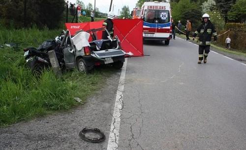 Śmierć motocyklisty w Zakrzowie. Miał dopiero 25 lat