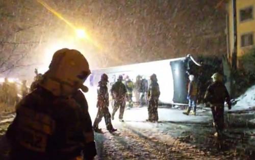 11 rannych z Wieprza w wypadku w Krzyżowej. Wracali z wycieczki...