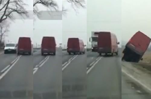 Przerażające nagranie busa! Mógł doprowadzić do nieszczęścia