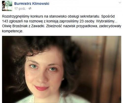 Oto nowa sekretarka burmistrza Wadowic. Beznadziejnie zakochana...