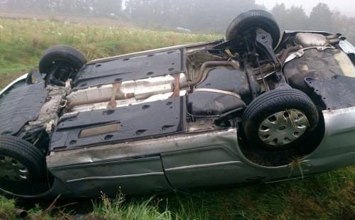 Znów wypadek na serpentynach w Witanowicach.