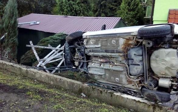 Auta roztrzaskane w Sułkowicach i Kleczy. Było naprawdę ślisko,...