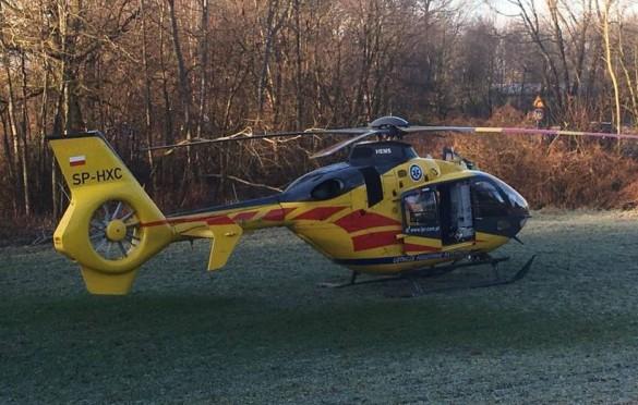 Koszmarny wypadek w Brzeźnicy. Motocyklista poważnie ranny