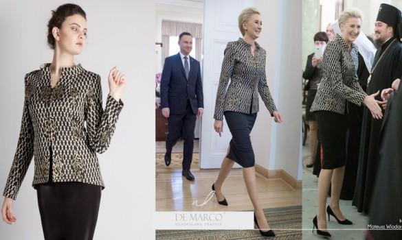 Prezydentowa pięknie prezentowała się w kreacji od projektantki...