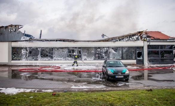 Prokuratura sprawdzi pożar w Lidlu w Wadowicach.