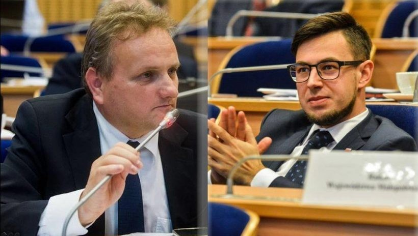 Rafał Stuglik i Filip Kaczyński - radni z powiatu wadowickiego w Sejmiku