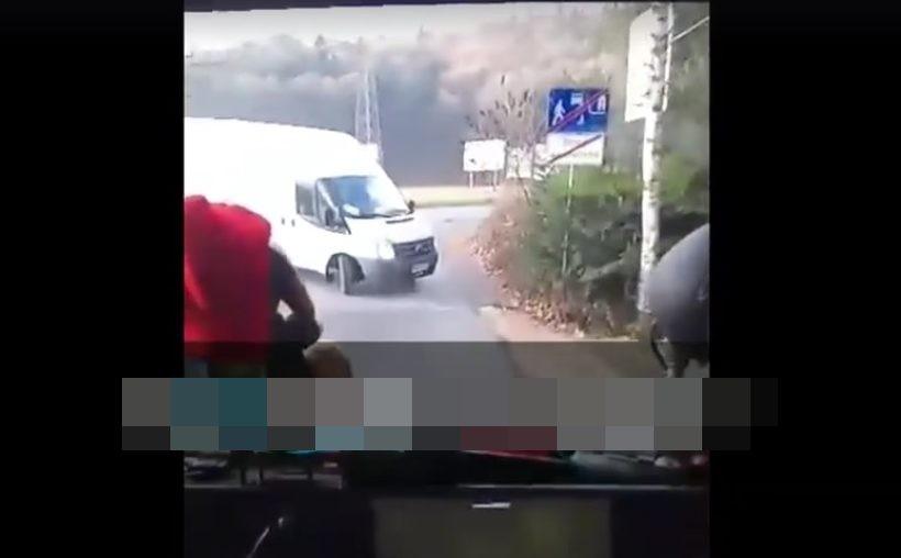 Strażacy wyjeżdżali z ulicy jednokierunkowej