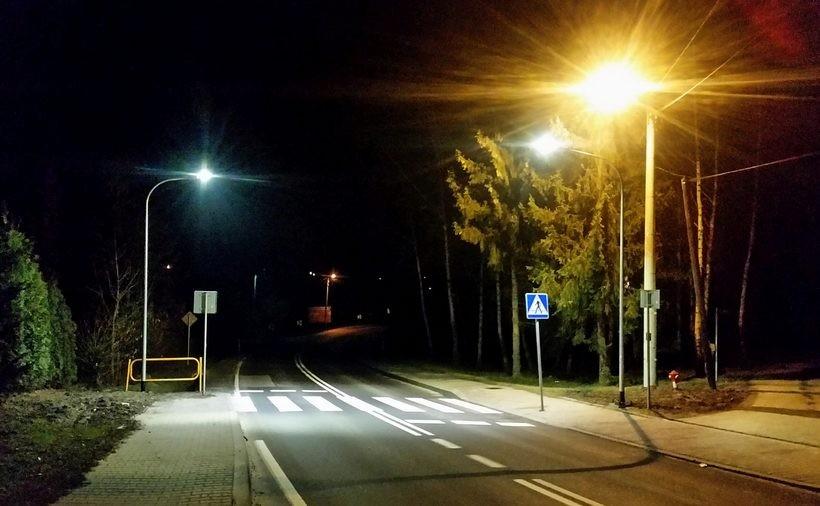 Oświetlenie przejścia dla pieszych w gminie Spytkowice