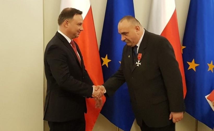 Prezydent odznaczył Michała Siwca - Cielebona za dzialność antykomunistyczną