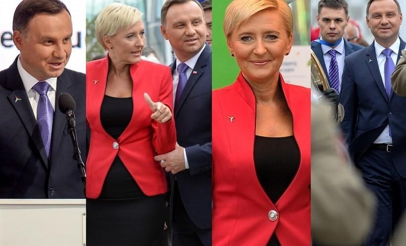 Prezydent Andrzej Duda i Agata Kornhauser - Duda