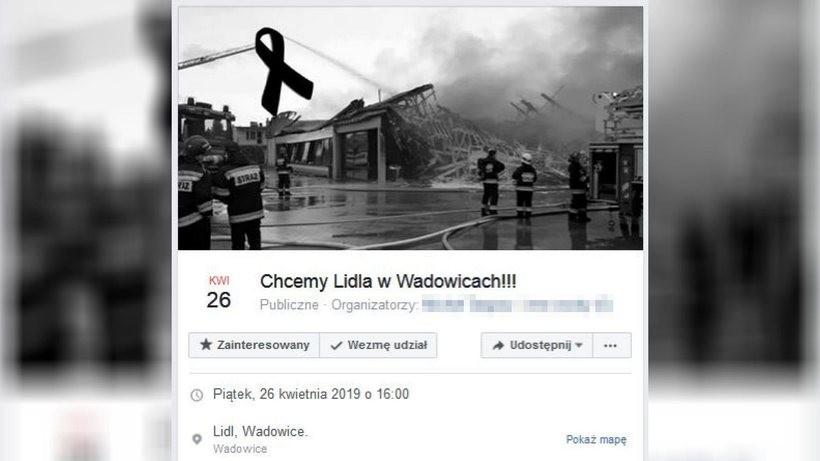 """Duża akcja w Internecie w żałobnym tonie: """"Chcemy Lidla w Wadowicach"""""""