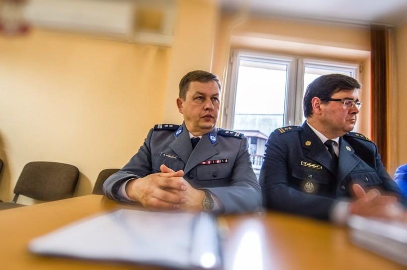 Komendant powiatowej policji Włodzimierz Warzecha.