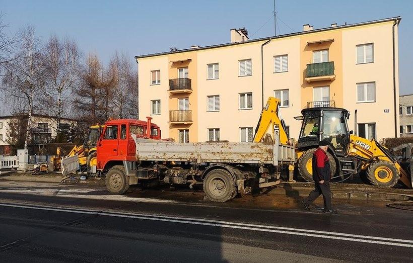 Awaria sieci wodociągowej przy ulicy Lwowskiej