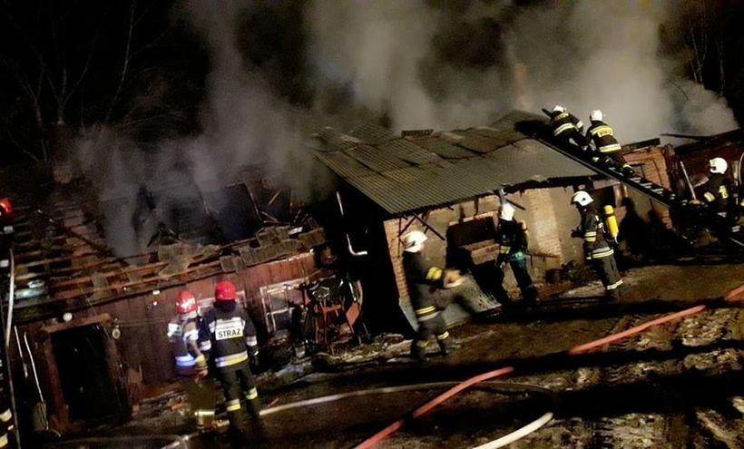 Spłonęła bardzo duża stodoła