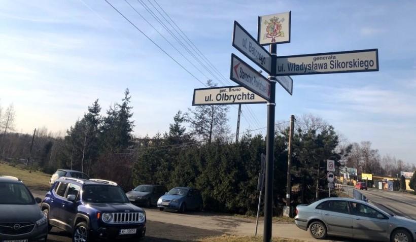 Ulica gnerała Olbrychta sąsiaduje z ulicą generała Sikorskiego
