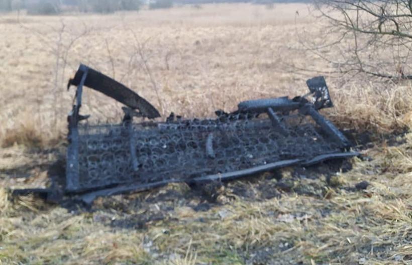Wersalkę porzucono w rowie i podpalono