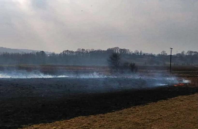 Pożar w Łączanach, wtorek (26.02)