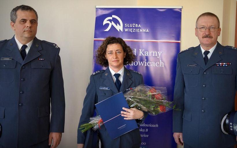 ppłk Renata Niziołek, w środku