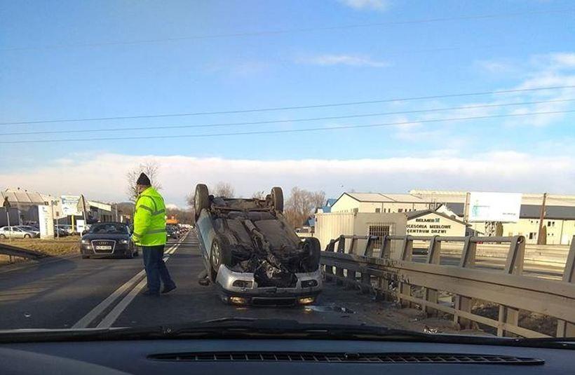 Wypadek na granicy powiatów