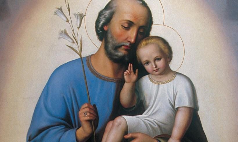 Obraz św. Józefa w sanktuarium przyozdobiony papieskim pierścieniem
