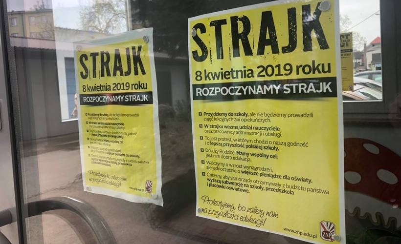 Wejście główne do Przedszkola nr 3 w Wadowicach. Tutaj też zorganizowano strajk nauczycieli
