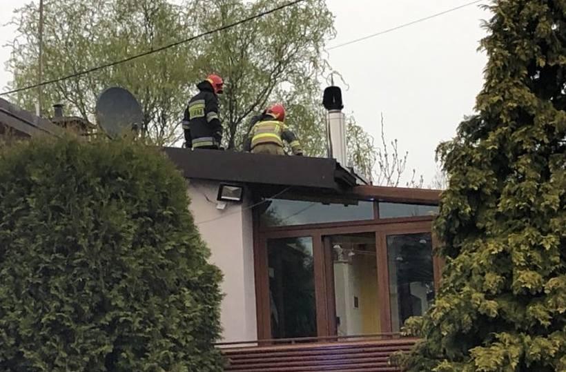 Pożar dachu na Brzostowskiej