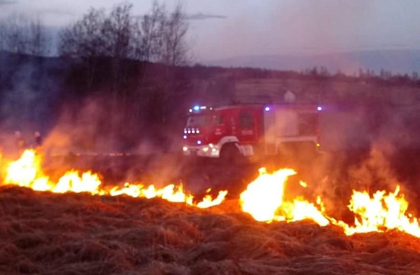 Straszna tragedia w Brodach! Nie żyje mężczyzna, który próbował gasić pożar trawy