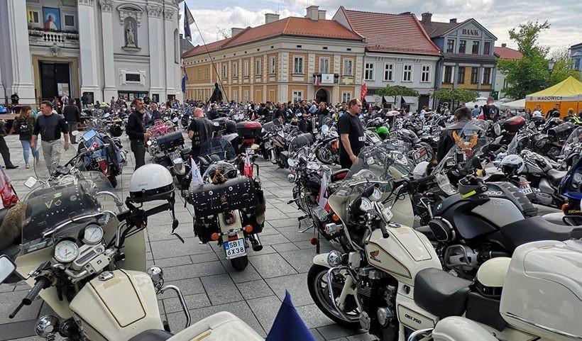 Zlot motocyklistów w Wadowicach