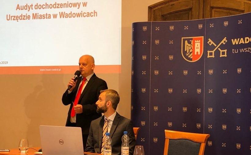 Wojciech Dudzińskiemu, założyciel firmy Froud Control, zaprezentował wyniki audytu