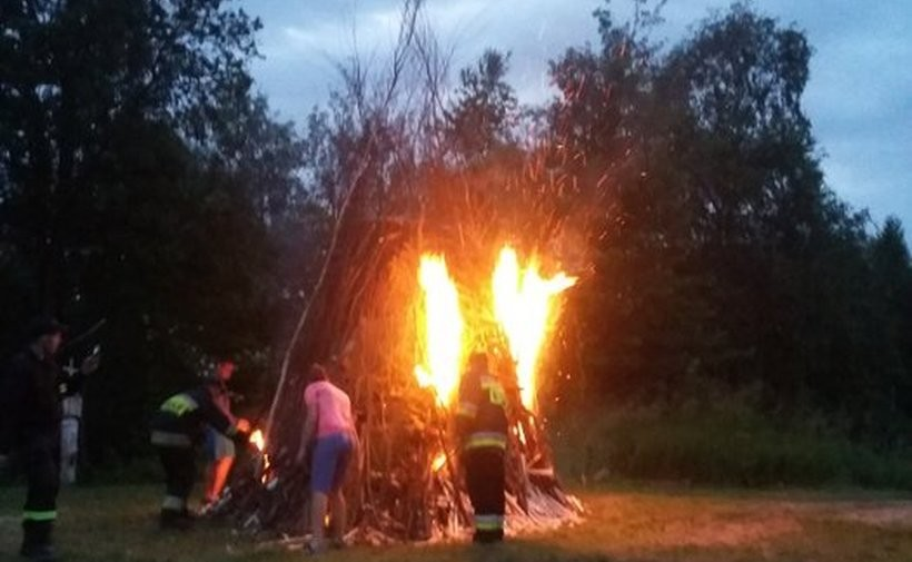 Wielkie ognisko palpne było pod kontrolą lokalnych strażaków