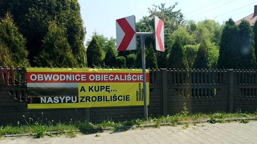 Protest w Podolszu
