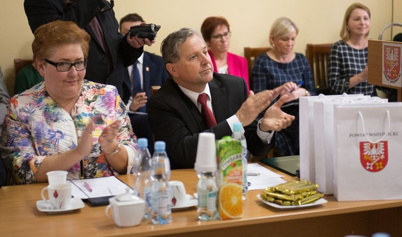Starsta Eugeniusz Kurdas i wicestarosta Beata Smolec
