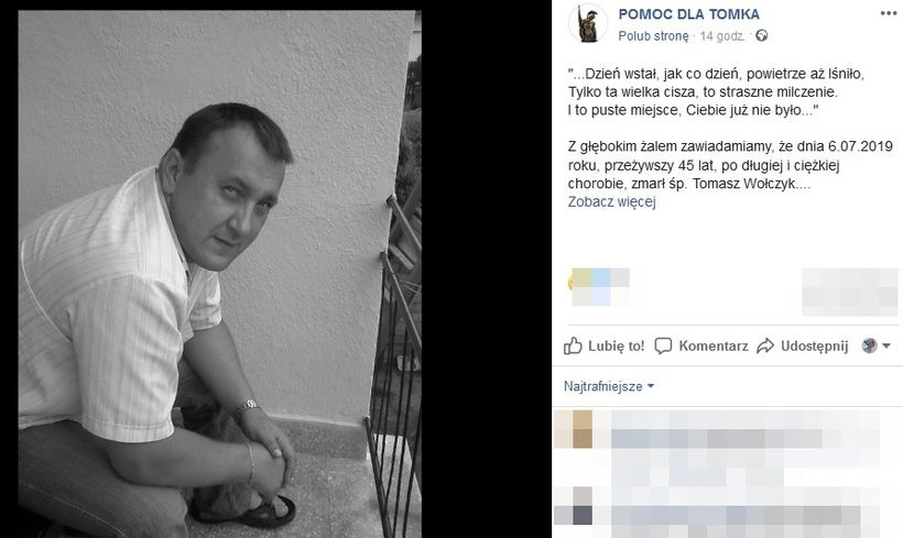 Śp. Tomasz Wołczyk