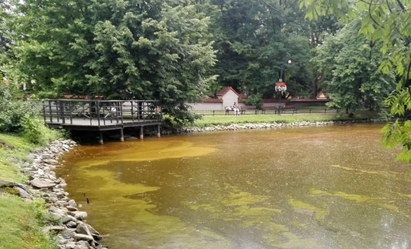 W niektórych miejscach woda jest wręcz czerwona