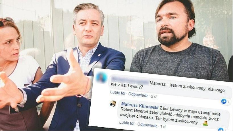 Robert Biedroń i Mateusz Klinowski kiedyś razem tworzyli progresywnego ruchu w Polsce