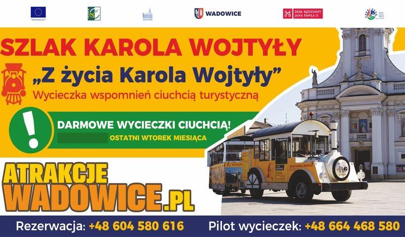 Atrakcjewadowice.pl zapraszają! Darmowe wycieczki ciuchcią