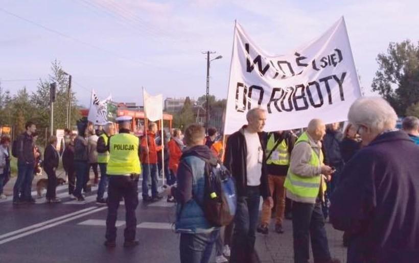 Protest mieszkańców w Skawinie