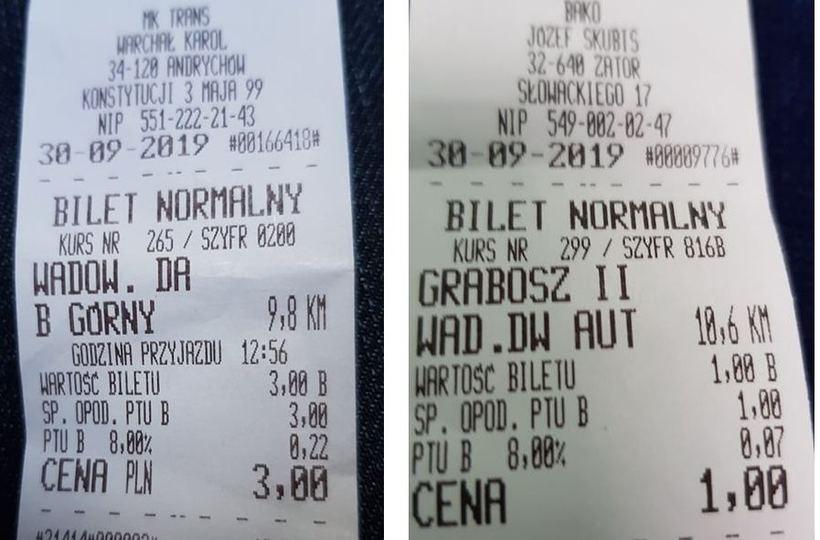 Ta sama trasa, a ceny biletów jakby różne. Lokalni busiarze zaskakują
