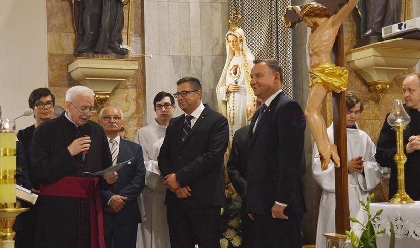 Prezydent Andrzej Duda pojawil się na odpuście w Andrychowie