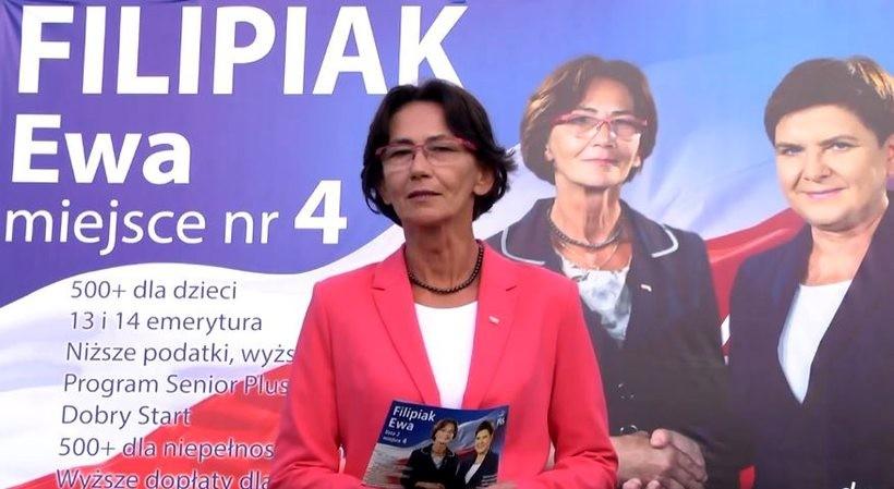 Ewa Filipiak. Była burmistrz Wadowic wygrała w niedzielę wybory do Sejmu, zdobywając bardzo dobry wynik 14010 głosów