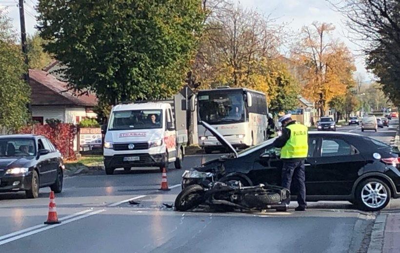 Wypadek na Lwowskiej w Wadowicach