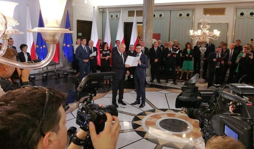 Uroczystość wręczenia zaświadczeń wyboru na posła RP w Sejmie