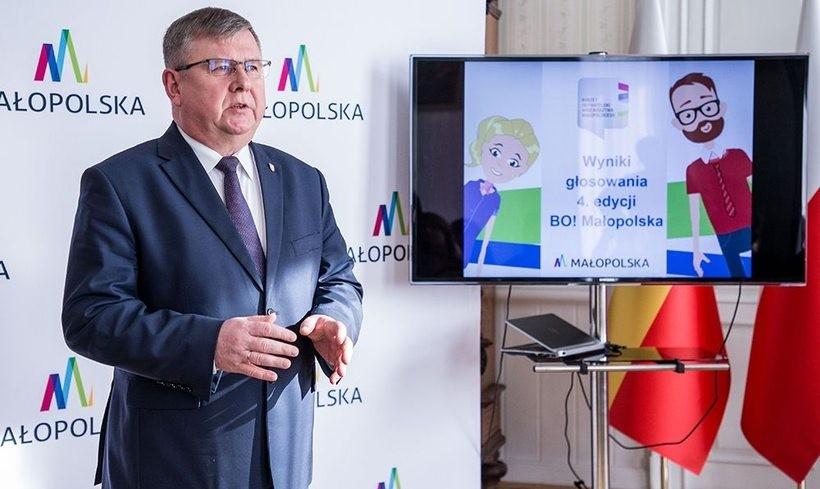 Marszałek Witold Kozłowski ogłosił wyniki tegorocznego budżetu obywatelskiego