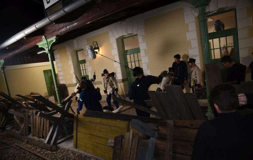 dworzec w Brzeźnicy był scenografią do filmu