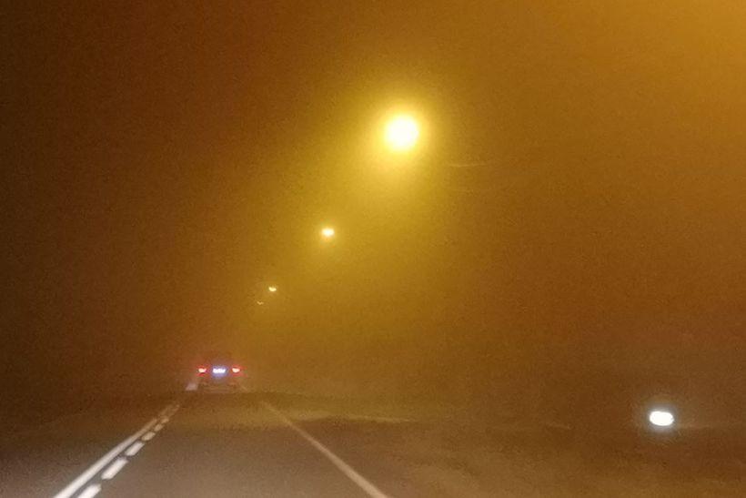 Warunki na drodze w Witanowicach (15.11)