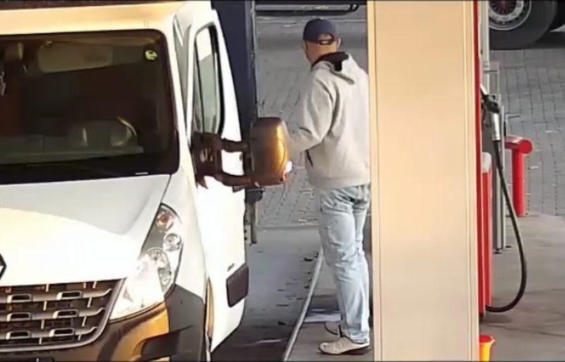 Podjechał dostawczakiem i ukradł 500 litrów paliwa. Policja szuka go w całej okolicy