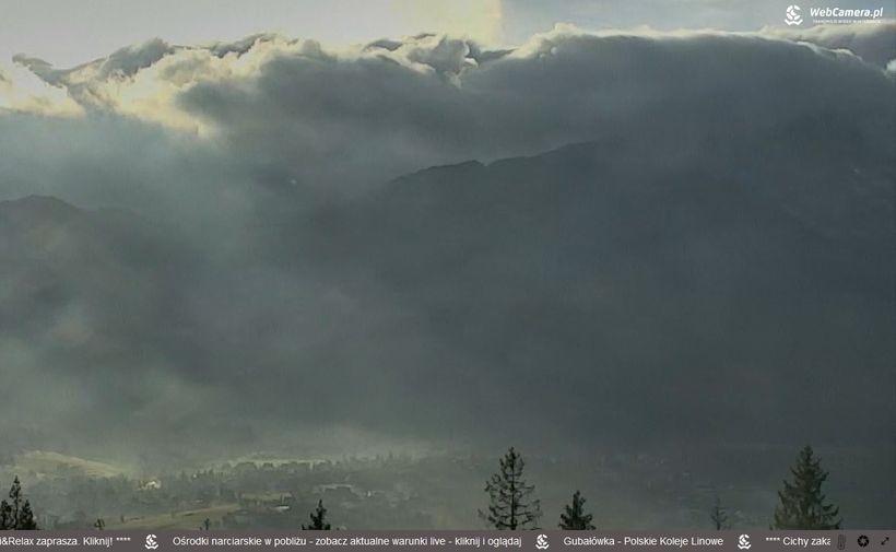 Widok z Gubałówki na Zakopane i Giewont