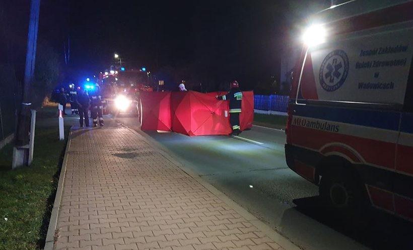 Tragedia na drodze w Sułkowicach. Potrącenie ze skutkiem śmiertelnym