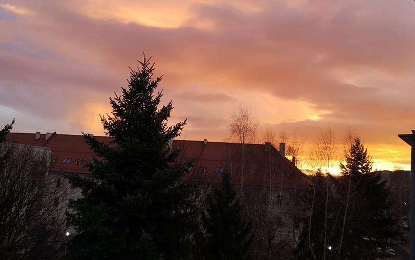 Wschód słońca nad Waodwicami, 9.12.2019r