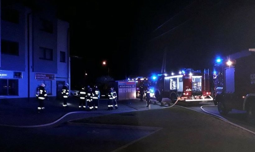 Pożar w budynku na ul.Gotowizna w Wadowicach